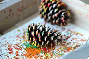 pinecone-painting-process-art-for-kids